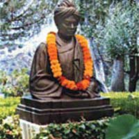 Bust of Swami Vivekananda at the Ramakrishna Monastery in Trabuco Canyon